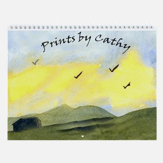 Prints by Cathy Wall Calendar