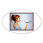 Dove Sticker (Oval 10 pk)