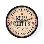 Jumpin' Flea Circus Wall Clock