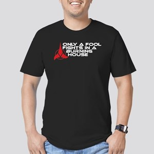 Klingon Proverb: Only A Fool Men's Fitted T-Shirt