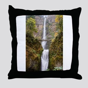 Multnomah Falls Oregon Throw Pillow