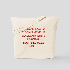 funny blackjack Tote Bag