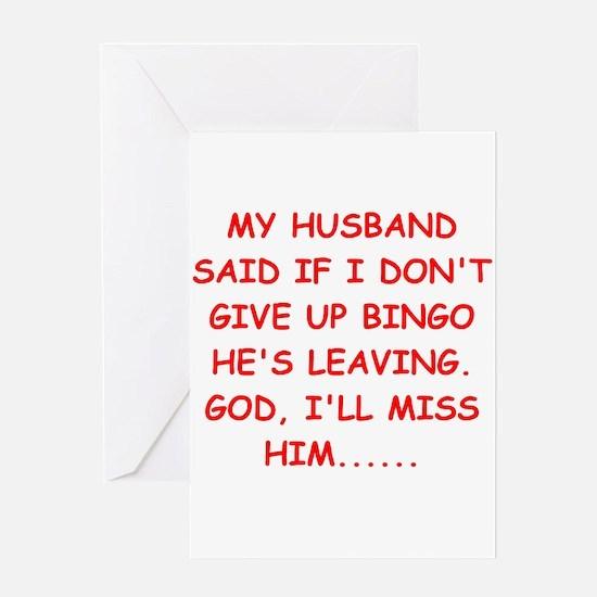 bingo player gifts Greeting Card