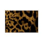 Jaguar Print Rectangle Magnet