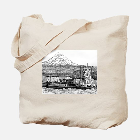 At Work on the Columbia Tote Bag