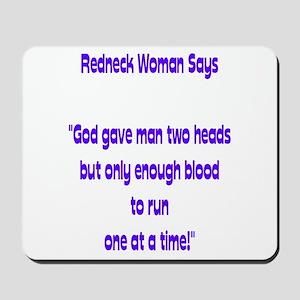 Redneck woman says Mousepad