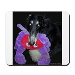 Black Borzoi with Toy Mousepad