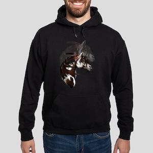 Feathered Paint Horse Hoodie (dark)