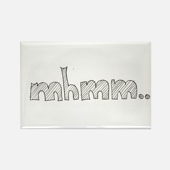 mhmm... Rectangle Magnet (100 pack)