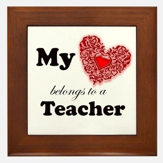 Unique Teacher appreciation Framed Tile