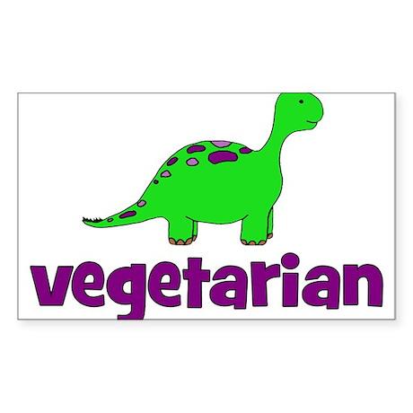 Vegetarian - Dinosaur Sticker (Rectangle)