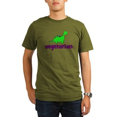 Vegetarian - Dinosaur Organic Men's T-Shirt (dark)