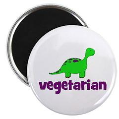 """Vegetarian - Dinosaur 2.25"""" Magnet (10 pack)"""