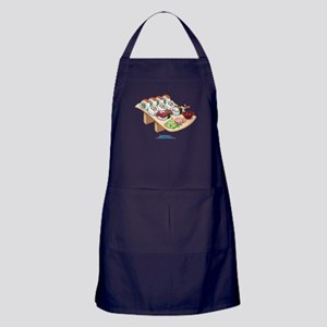 Kawaii California Roll and Sushi Nigiri Apron (dar