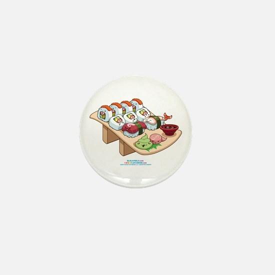Kawaii California Roll and Sushi Nigiri Mini Butto