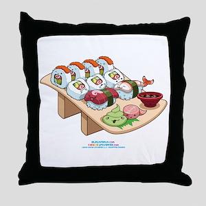 Kawaii California Roll and Sushi Nigiri Throw Pill