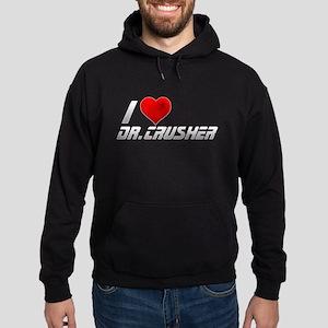 I Heart Dr. Crusher Hoodie (dark)