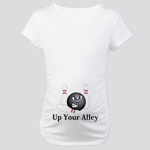 Up Your Alley Logo 5 Maternity T-Shirt Design on B