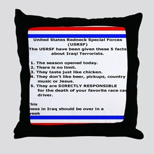 Redneck Special Forces Throw Pillow