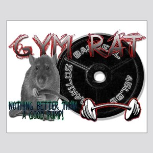 Gym rat Small Poster