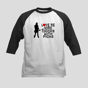 Chicks With Picks Kids Baseball Jersey