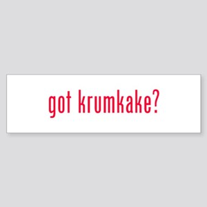 got krumkake? (red) Sticker (Bumper)