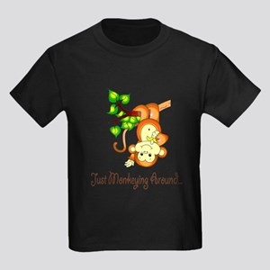 Just Monkeying Around... Kids Dark T-Shirt