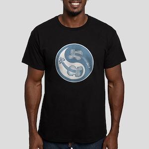 Violyin-Yang Men's Fitted T-Shirt (dark)