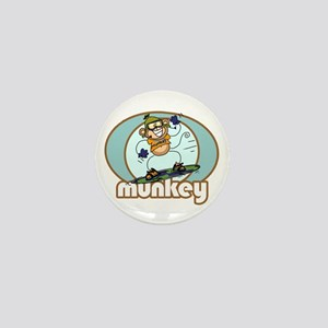 Snow Munkey Monkey Mini Button