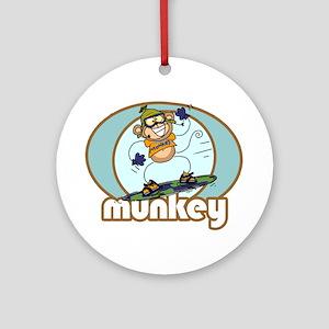 Snow Munkey Monkey Ornament (Round)