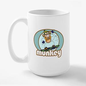 Snow Munkey Monkey Large Mug