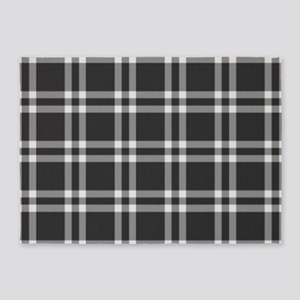 Black Plaid 5'x7'Area Rug