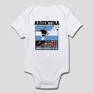 Argentina World Soccer Goal Infant Bodysuit