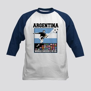 Argentina World Soccer Goal Kids Baseball Jersey