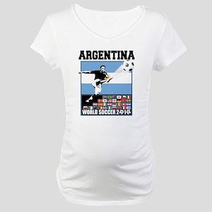 Argentina World Soccer Goal Maternity T-Shirt