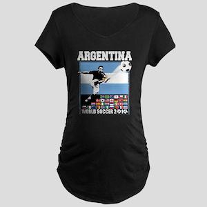 Argentina World Soccer Goal Maternity Dark T-Shirt