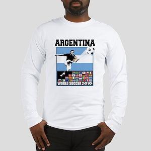 Argentina World Soccer Goal Long Sleeve T-Shirt