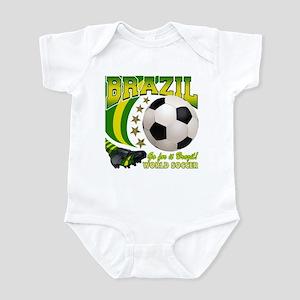 Brazil Soccer Goal Kick 2010 Infant Bodysuit