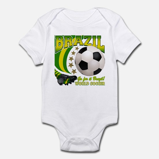 Brazil Soccer Goal Kick 2010 Infant Bodysuit