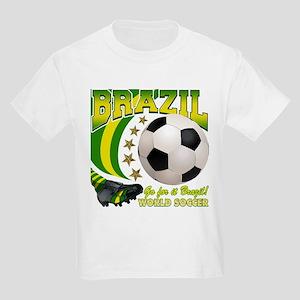 Brazil Soccer Goal Kick 2010 Kids Light T-Shirt