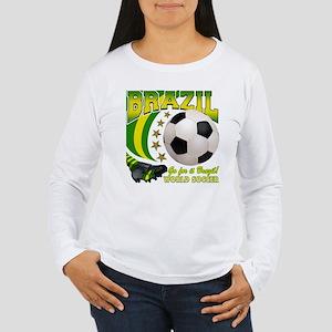 Brazil Soccer Goal Kick 2010 Women's Long Sleeve T
