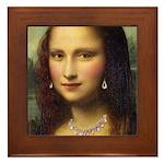 Modern Mona Lisa Framed Tile