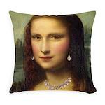 Modern Mona Lisa Everyday Pillow