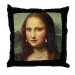 Modern Mona Lisa Throw Pillow