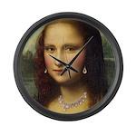 Modern Mona Lisa Large Wall Clock
