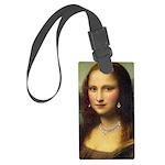 Modern Mona Lisa Large Luggage Tag