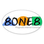 8ONE8, Inc. Sticker (Oval)