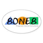 8ONE8, Inc. Sticker (Oval 10 pk)