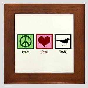 Peace Love Birds Framed Tile
