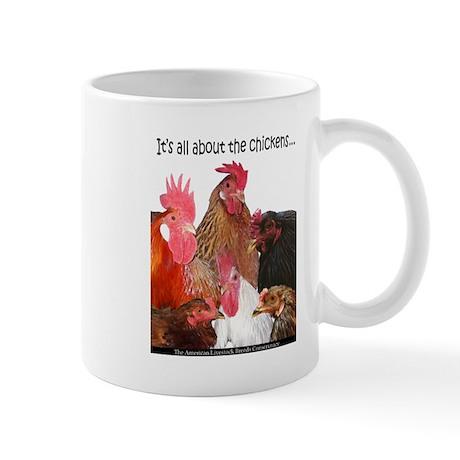 """""""It's All...chickens..."""" Mug Mugs"""